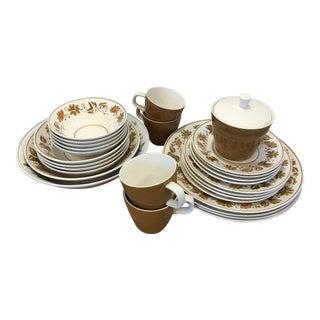 1960s Mikasa Cera Stone Westwood Dinnerware - Set of 29 For Sale