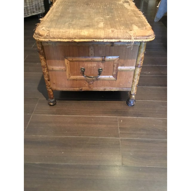 Early 20th Century 20th Century Asian Antique Scorched Bamboo Trunk For Sale - Image 5 of 13