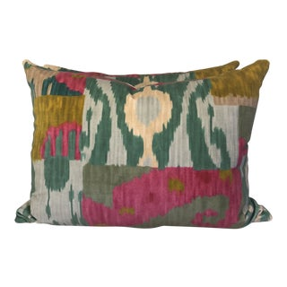 "Pierre Frey ""Bella Coola Velvet"" 18""x24"" Pillows-A Pair For Sale"