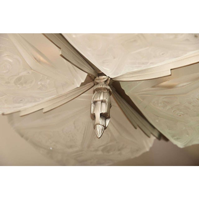French Art Deco Square-Shaped Chandelier For Sale - Image 4 of 10