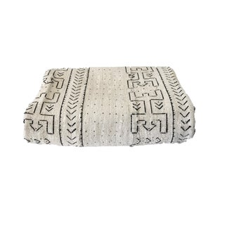 "Large Bogolan Mali Mud Cloth Textile 60"" by 88"" For Sale"