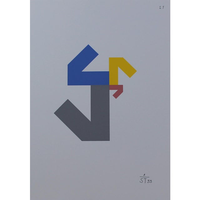 Anton Stankowski Abstract Serigraph For Sale