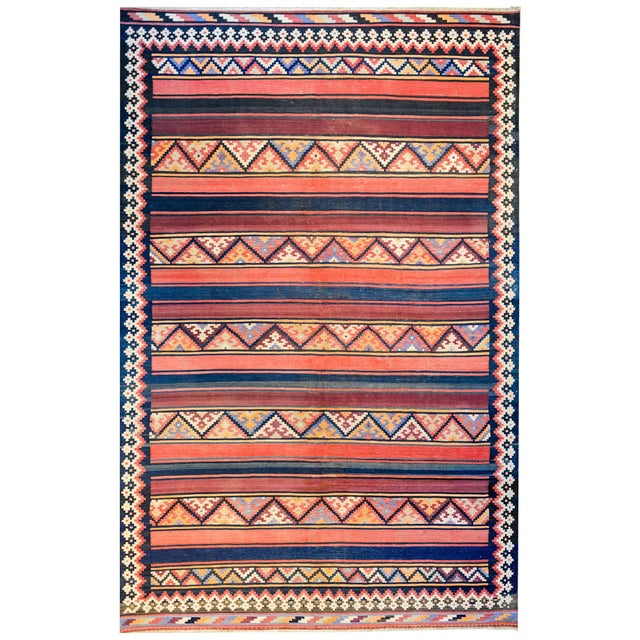 Brown Early 20th Century Zarand Kilim Rug For Sale - Image 8 of 8