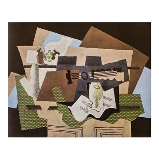 """1940s Georges Braque """"Glass and Guitar"""", First Edition Period Swiss Lithograph For Sale"""