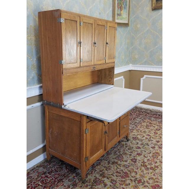 Antique Oak Sellers Indiana Hoosier Cabinet C1900 For Sale - Image 4 of 11