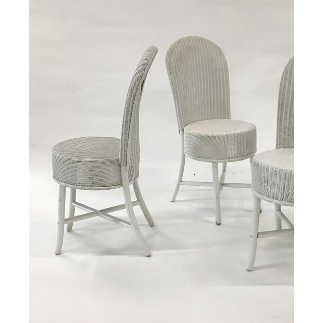 Metal 1950s Woven Lloyd Loom Chairs — Set of 4 For Sale - Image 7 of 12