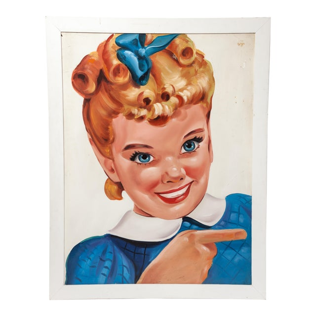 Sunbeam Bread Girl Large Trade Sign For Sale