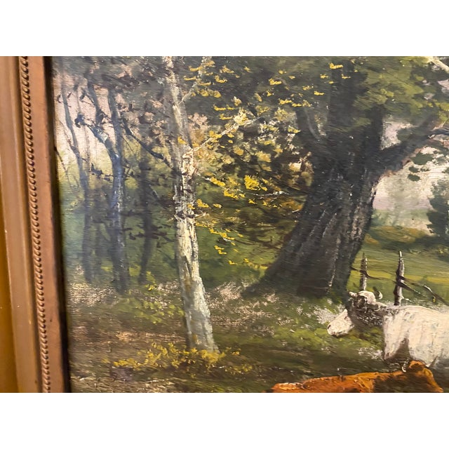 Brown Vintage Signed Oil on Canvas Painting For Sale - Image 8 of 13
