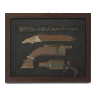 Framed Vintage Prison Weapons and Shivs