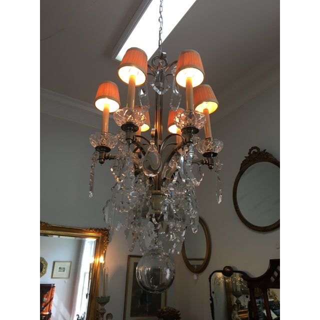 Gray Vintage Hart Crystal Arm Chandelier For Sale - Image 8 of 11