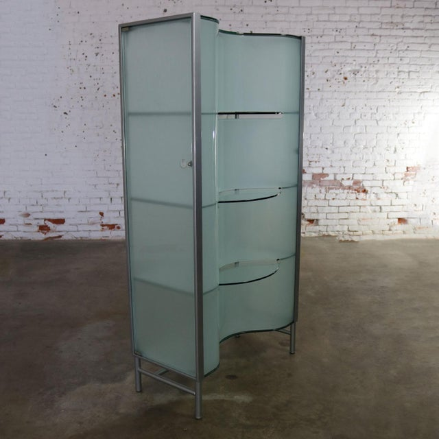 Modern Dual Sided Glass and Metal Enclosed Display For Sale - Image 12 of 13