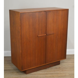 Danish Modern Style Mid Century Modern Teak 2 Door Bedroom Cabinet Preview