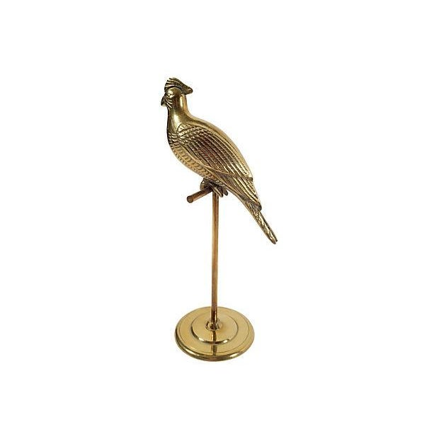 Brass Cockatoo on Stand - Image 2 of 4
