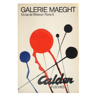 Alexander Calder Exhibition Poster, Galerie Maeght (Fleches) For Sale