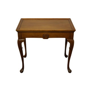 """Traditional Hickory Chair Co. Mahogany Accent 28x25"""" Tea Table 515-66 For Sale"""