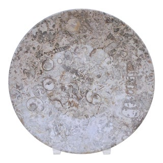 Carved Stone Fossil Bowl For Sale