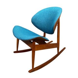 Vintage Mid Century Modern Seymour J. Wiener for Kodawood Style Walnut Rocking Chair For Sale