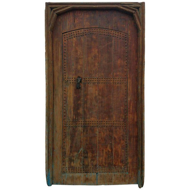 Antique Moroccan Mia Two-Tone Door For Sale - Image 9 of 9