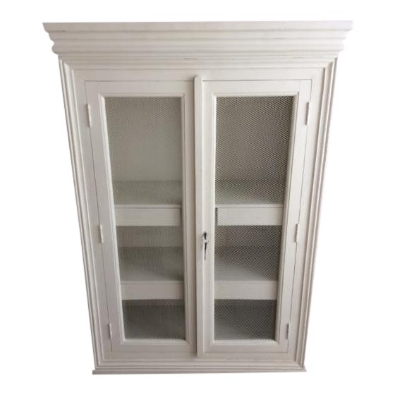 Distressed Blanc d'Ivoire Painted Armoire - Image 1 of 3