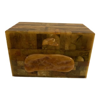 Vintage Art Deco Baltic Amber Box For Sale