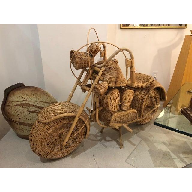 Vintage Wicker Motorcycle - Image 5 of 8