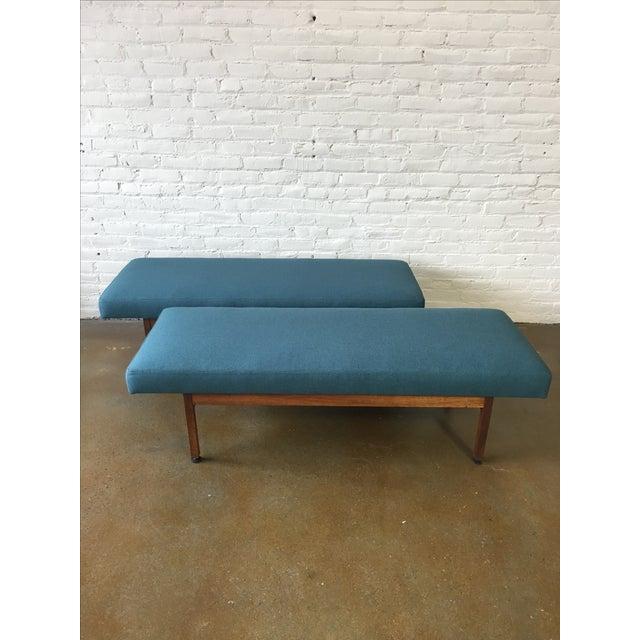 Danish Modern Walnut Upholstered Bench - Image 6 of 6