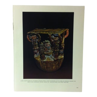"""Circa 1960 """"A Chief or Diety on a Low Throne"""" Treasures of Ancient America Mounted Print For Sale"""