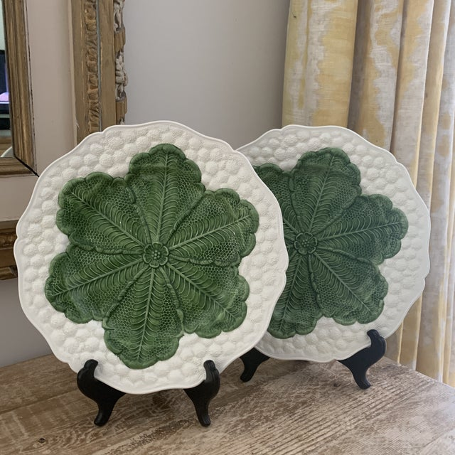 Ceramic Italian 1980s Majolica Cabbage Plates- a Pair For Sale - Image 7 of 9
