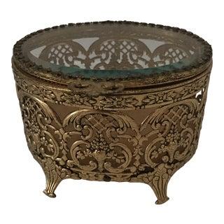 1960s Hollywood Regency Oval Dresser Box For Sale