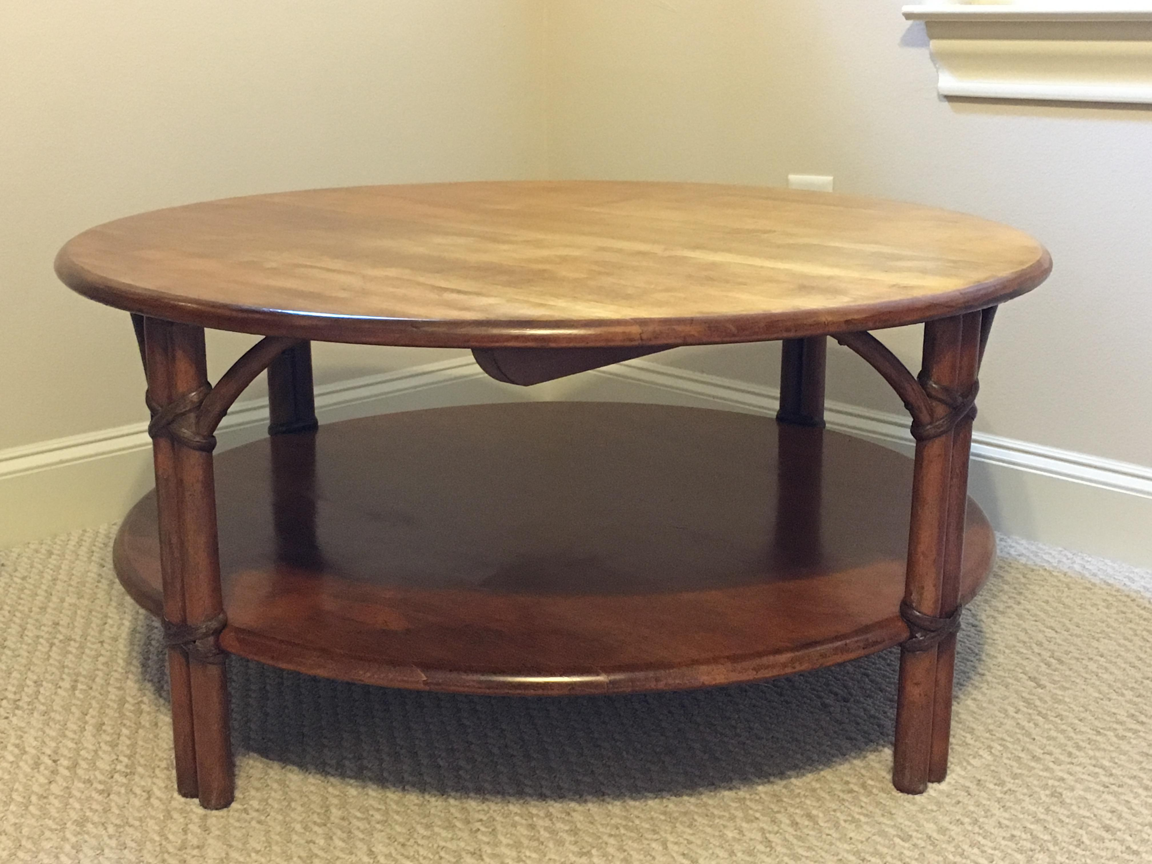 HeywoodWakefield Round Coffee Table Chairish