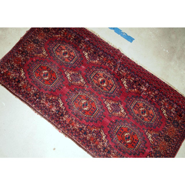Traditional 1880s, Handmade Antique Collectible Turkmen Saryk Rug 2.6' X 4.4' For Sale - Image 3 of 6