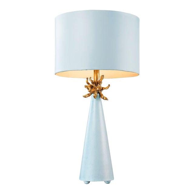 Metal Le Ciel Blue Table Lamp For Sale - Image 7 of 7