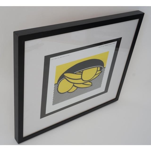 "Vintage Roy Lichtenstein ""Bananes Et Pamplemouse"" 1972 Print for Leo Castelli Gallery Soho Nyc For Sale - Image 9 of 11"