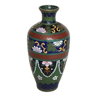Japanese Cloisonné Bud Vase, Meiji Period For Sale