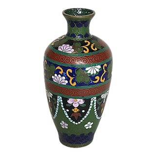 Late 19th Century Japanese Cloisonné Bud Vase, Meiji Period For Sale
