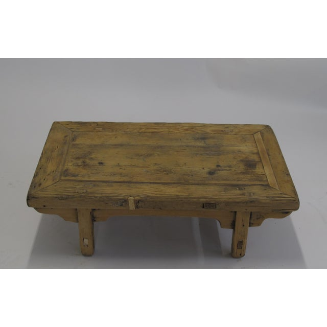 Chinese Small Rustic Kang Accent Table or Coffee Table For Sale - Image 3 of 6