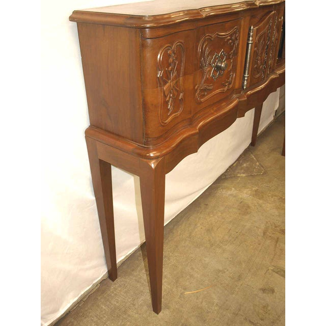Traditional Carved Walnut French Console For Sale - Image 3 of 10