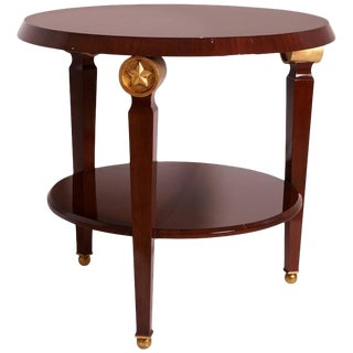 French Empire Two-Tiered Mahogany Center Table For Sale