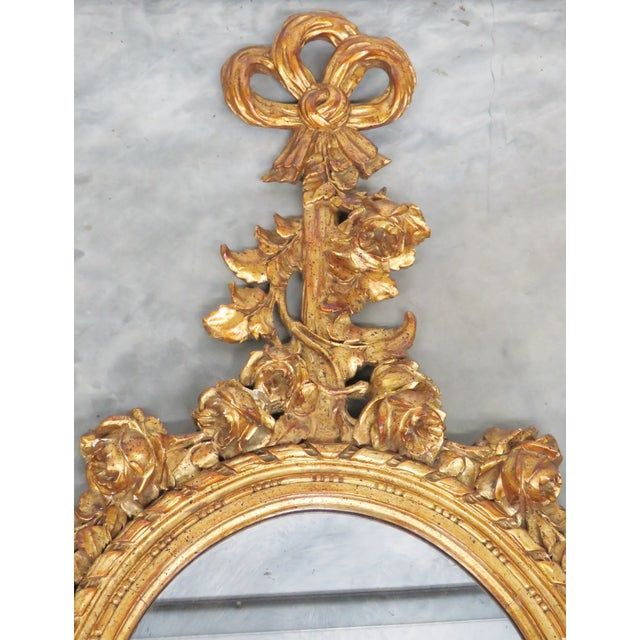French Style Oval Gilt Mirror - Image 3 of 6