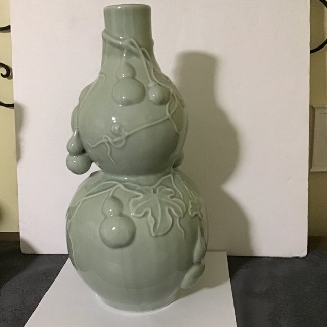 Mid 20th Century Asian Celadon Jade Style Vase Last Call For Sale - Image 5 of 8