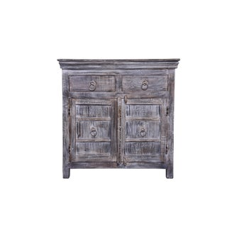 Contemporary Magnolia Wooden Two Drawer Sideboard