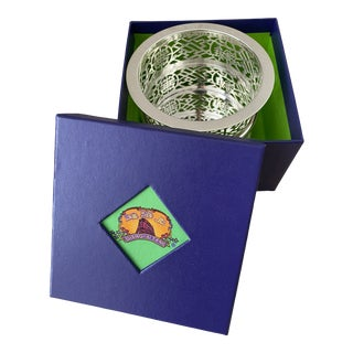 Shanghai Tang Silver-Plated Wine Champagne Coaster/Holder With Box For Sale