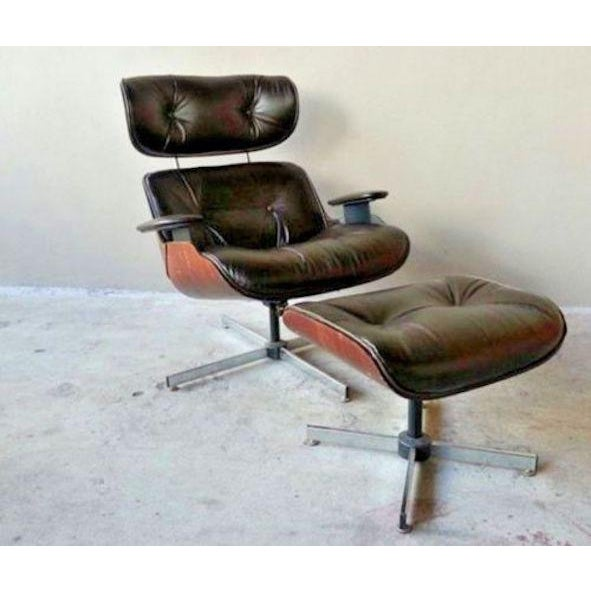 1970s Vintage Original 60's Plycraft Eames Chair and Ottoman For Sale - Image 5 of 7