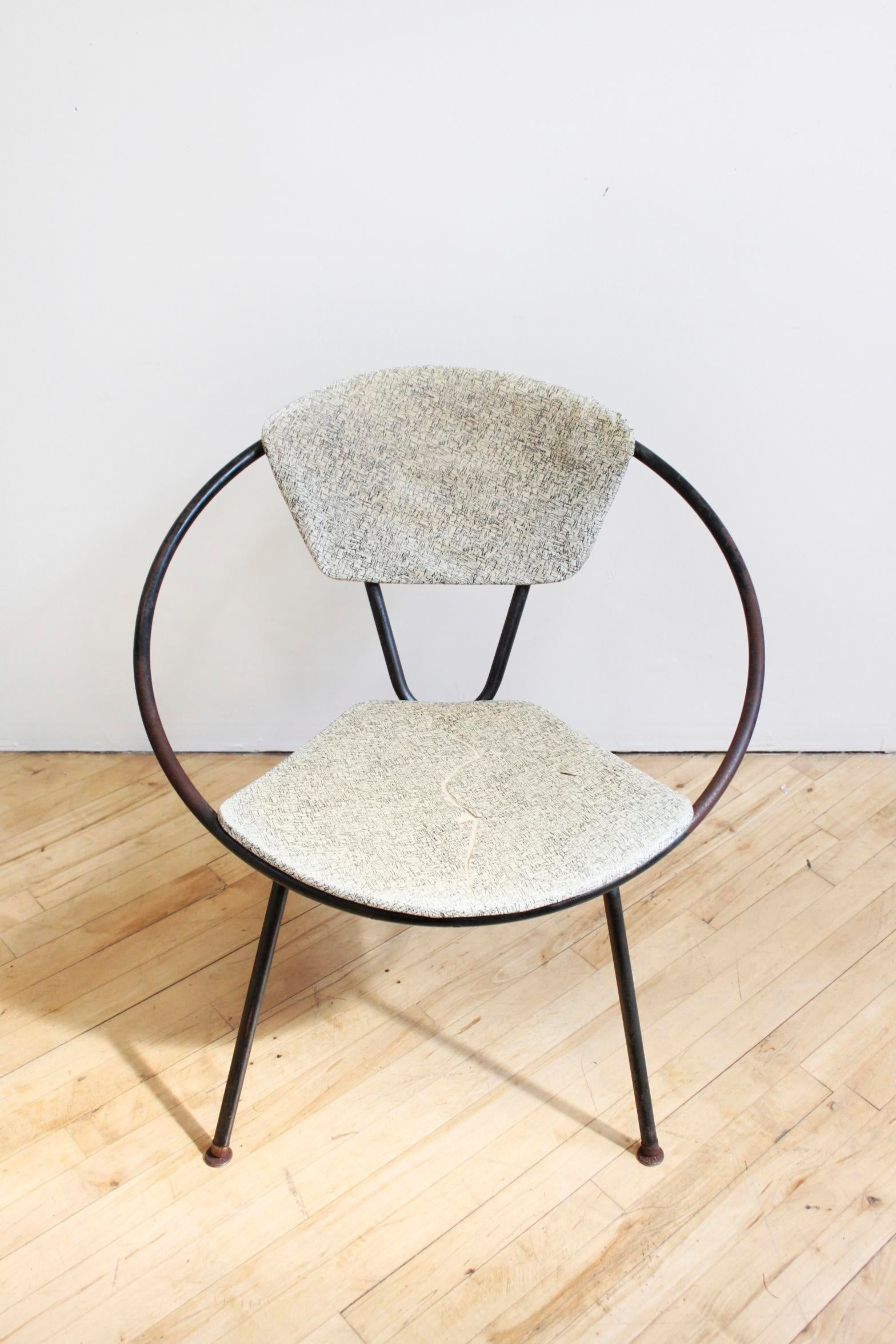Mid Century Modern John Hauser Hoop Chair  Original Abstract Modern  Upholstery   Image 2 Of