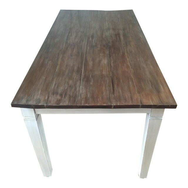 Antiqued Farmhouse Dining Table - Image 1 of 8