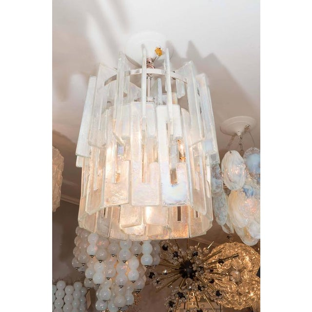 """Iridescent """"C"""" Link Glass Chandelier For Sale In New York - Image 6 of 6"""