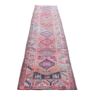 "1960s Vintage Farmhouse Turkish Runner-3'7""x12'2"" For Sale"