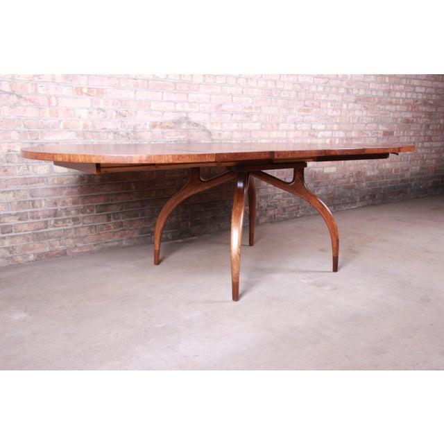 Romweber Harold Schwartz for Romweber Mid-Century Modern Spider Leg Extension Dining Table, Newly Restored For Sale - Image 4 of 13