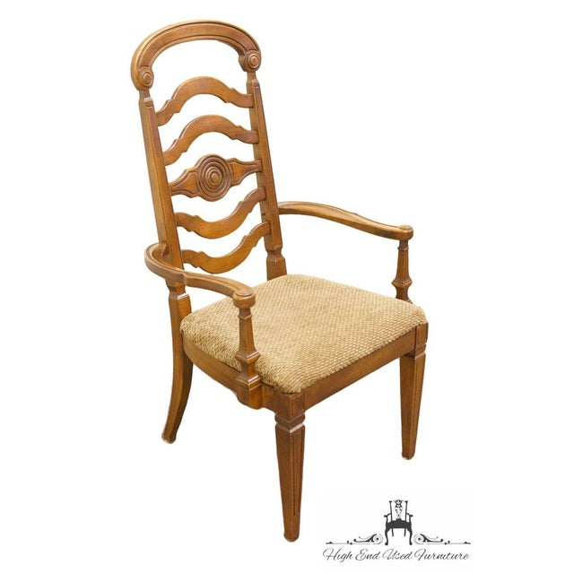"""43.5"""" High 24"""" Wide 23"""" Deep Seat: 18"""" High Arms: 24.5"""" High We specialize in High End Used Furniture that we consider to..."""