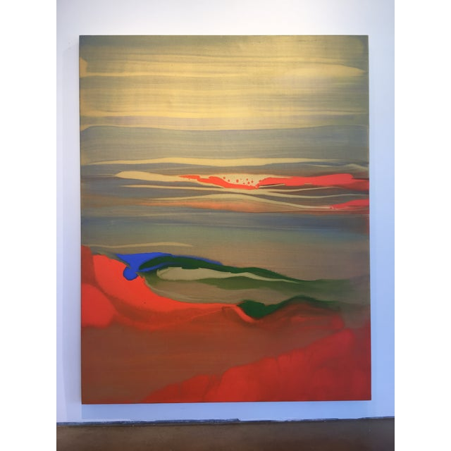 """Abstract painting by Spanish artist Nico Munuera entitled """"Boneless VI."""" The painting is done in acrylic on linen, which..."""